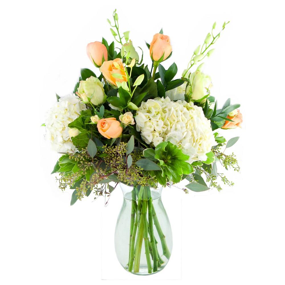 KaBloom Orange Creamsicle Fresh Flower Arrangement - with Vase
