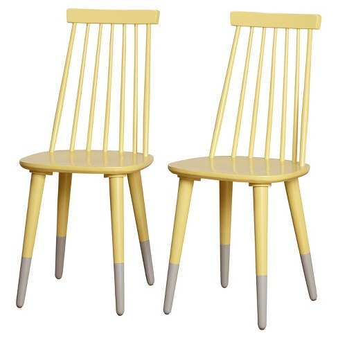 Hermosa Dining Chair (Set of 2) - Yellow - Angelo:Home - image 1 of 2