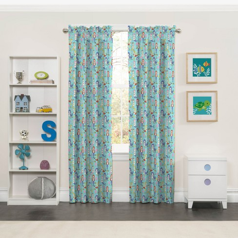 Magical Mermaids Blackout Curtains - Eclipse My Scene - image 1 of 1