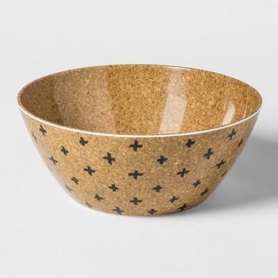 Round Plastic Serving Bowl 160oz Cork Pattern - Room Essentials™
