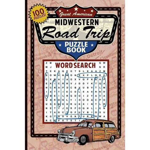 Great American Midwestern Road Trip Puzzle Book - (Great American Puzzle Books) by  Applewood Books - image 1 of 1