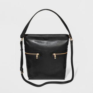 Zipper Hobo Handbag - A New Day™ Black