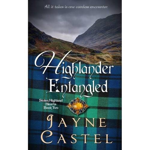 Highlander Entangled - (Stolen Highland Hearts) Large Print by Jayne Castel (Paperback)