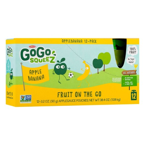 Gogo Squeez Apple Banana Applesauce On The Go Pouches 12ct - 3.2oz - image 1 of 6