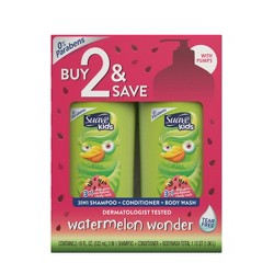 Suave Kids 3-in-1 Watermelon Wonder Body Wash + Shampoo and Conditioner - 32.8 fl oz