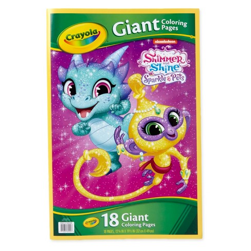 Crayola Shimmer and Shine Giant Coloring Pages : Target