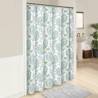 Carlisle Shower Curtain Aqua - Marble Hill