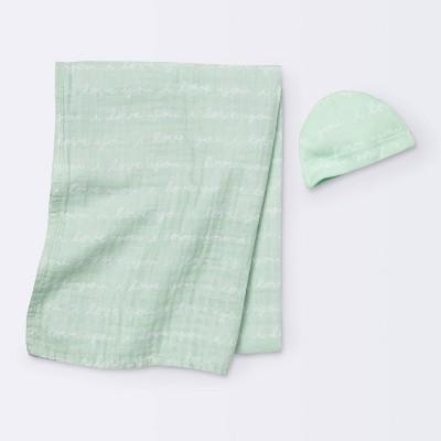 Hospital Gift Set with Hat I Love You Script - Cloud Island™ Mint