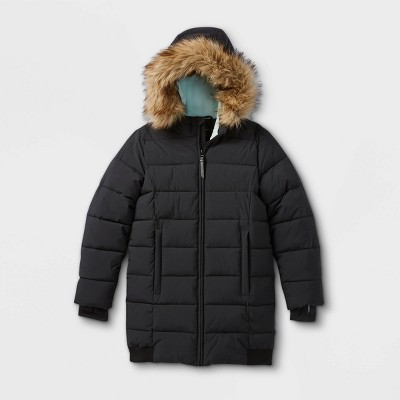 Girls' Mid-Length Puffer Jacket - All in Motion™