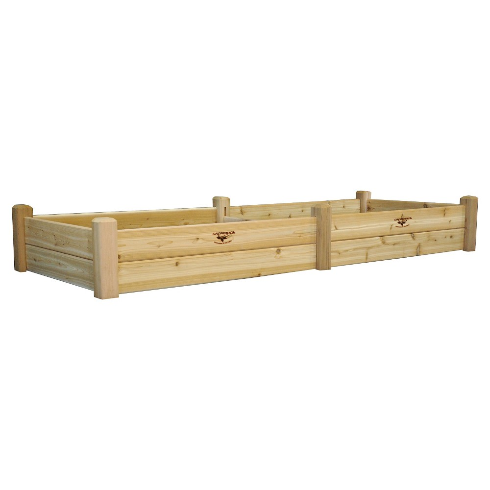 "Image of ""97.25 x 36.25"""" x 13"""" Raised Rectangular Garden Bed - Western Red Cedar - Gronomics, Cedar Unfinished"""