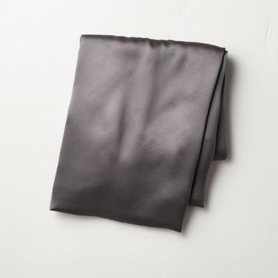 Standard Solid Silk Pillowcase Gray - Casaluna™