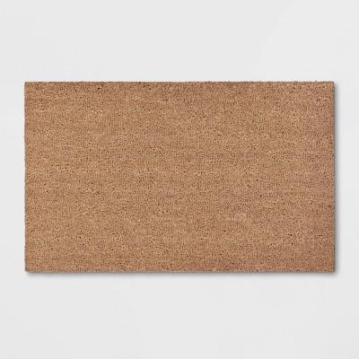 """1'6""""x2'6"""" Solid Doormat Beige - Room Essentials™"""