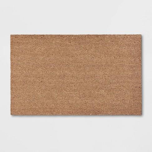 """1'6""""x2'6"""" Solid Doormat Beige - Room Essentials™ - image 1 of 3"""