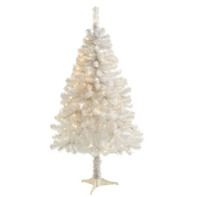 5ft Nearly Natural Pre-Lit LED White Artificial Christmas Tree Clear Lights