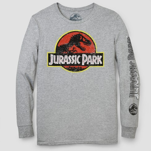 Men's Jurassic Park Long Sleeve T-Shirt - Athletic Heather - image 1 of 1