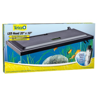 Tetra LED Hood 20 Inches By 10 Inches, Low-Profile Aquarium Hood With Hidden Lighting