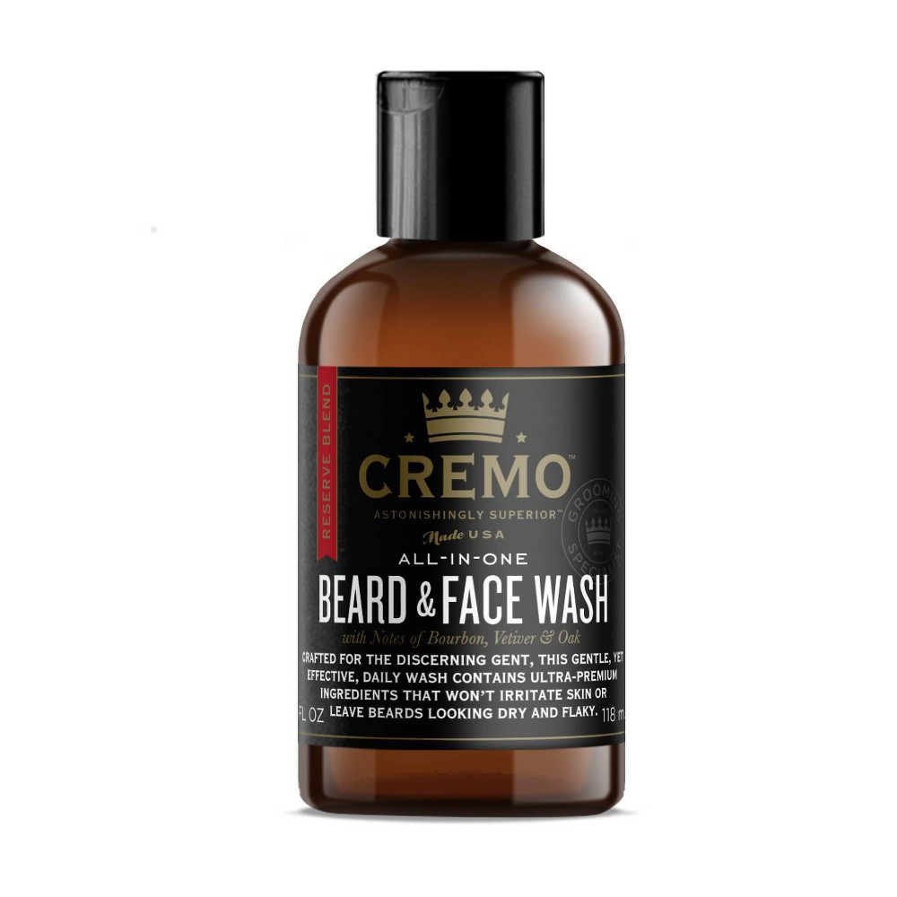 Image of Cremo Reserve Blend Beard & Face Wash - Astonishingly Clean & Perfectly Moisturized Beard - 4 fl oz