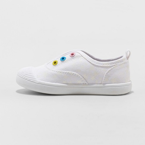 d074c6c3a Toddler Girls  Alivia Canvas Slip On Sneakers - Cat   Jack™ White 10 ...