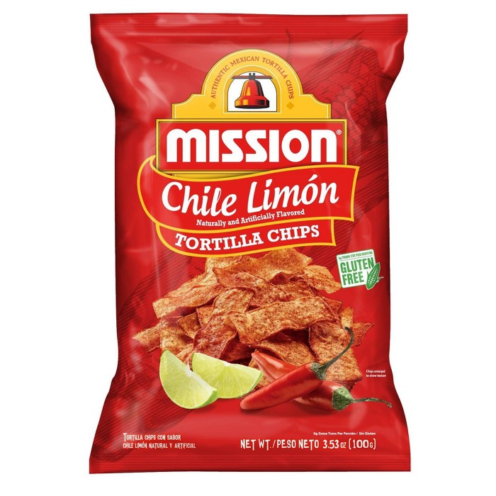 Mission Chile Limon Tortilla Chips - 3.53oz - image 1 of 2