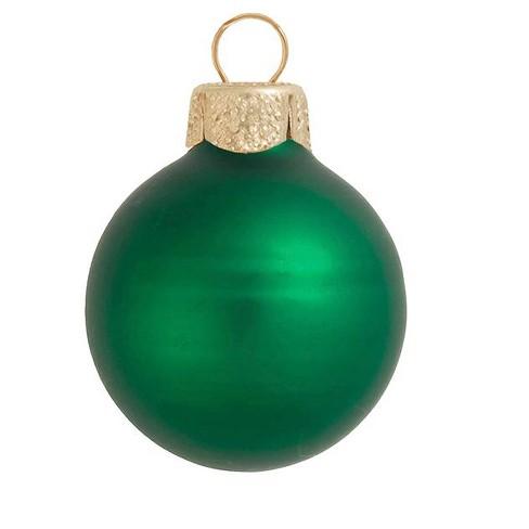 "Northlight 40ct Matte Glass Ball Christmas Ornament Set 1.25"" - Green Xmas - image 1 of 1"