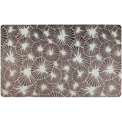 Drymate Dog and Cat Feeding Placemat - Flowers Gray