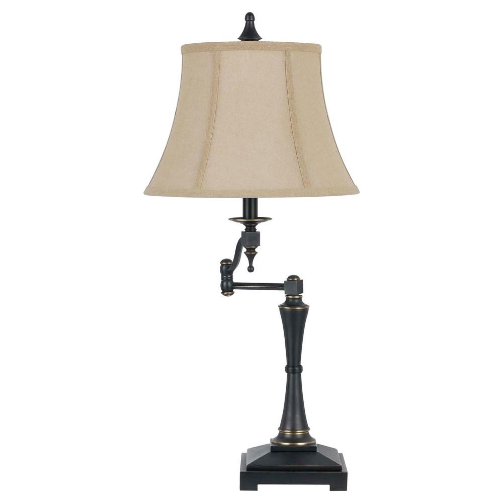 Cal Lighting Madison Dark Bronze finish Metal swing arm Table Lamp (Lamp Only)