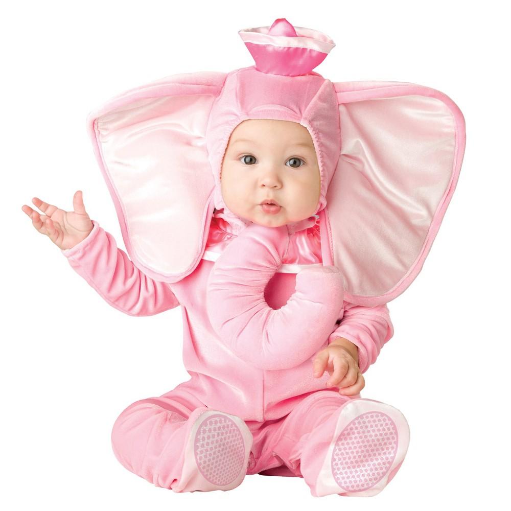 Baby Girls' Pink Elephant Halloween Costume 12-18 M, Size: 12-18M