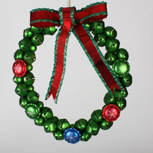 Sterling Jingle Bell Christmas Wreath with Bow - 14.5-Inch, Unlit - image 1 of 1