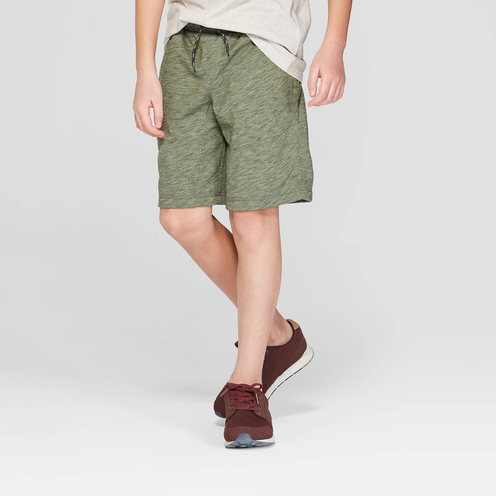 Image of Boys' Knit Jogger Shorts - Cat & Jack Green XXL, Boy's