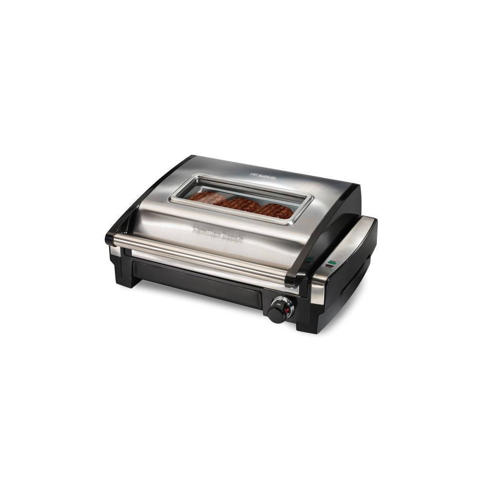Image of Hamilton Beach Searing Grill with Glass
