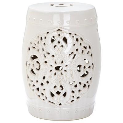 Panarea Garden Stool - Cream - Safavieh®