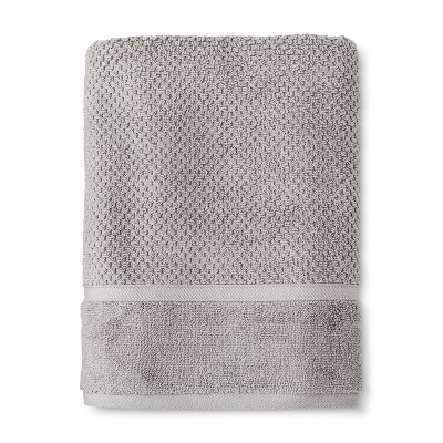 Bath Towel Performance Texture Bath Towels And Washcloths Classic Gray - Threshold™