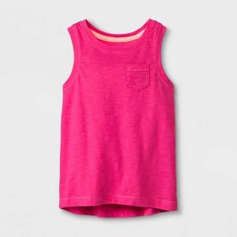 Toddler Girls' Tank Top - Cat & Jack™ Magenta Pink 18M - image 1 of 1
