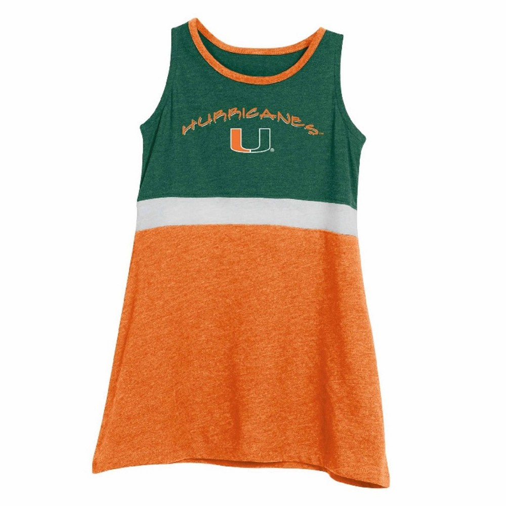 NCAA Toddler Dress Miami Hurricanes - 4T, Toddler Girl's, Multicolored