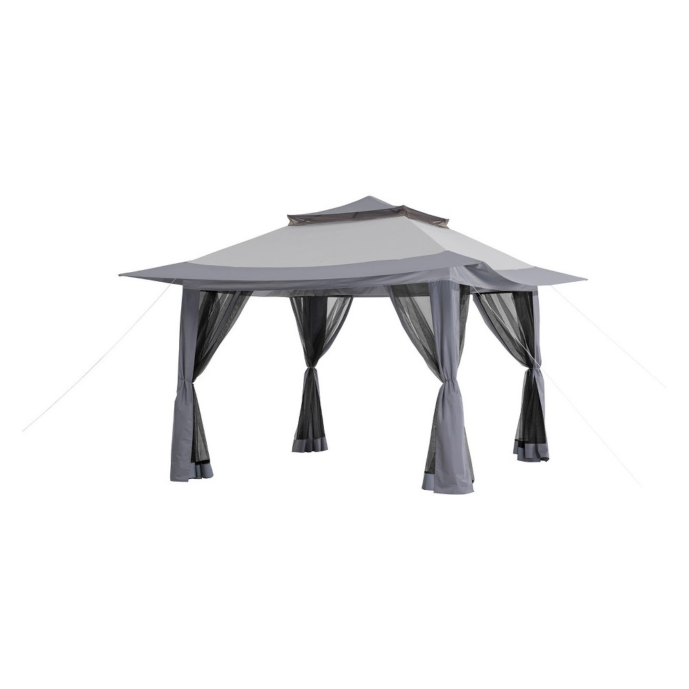 13'x13' Pop-Up Canopy with Carrying Bag Gray - Sunjoy