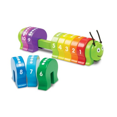 Melissa & Doug® Counting Caterpillar - Classic Wooden Toy With 10 Colorful Numbered Segments - image 1 of 3