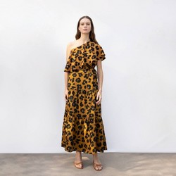 Women's Floral Print Tiered A-Line Maxi Skirt - Who What Wear™