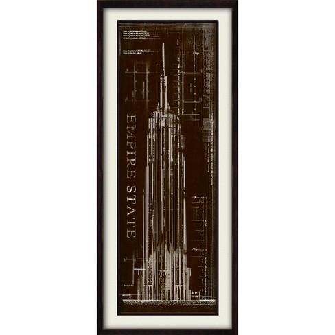 Empire State Building Blueprint Wall Art - image 1 of 2