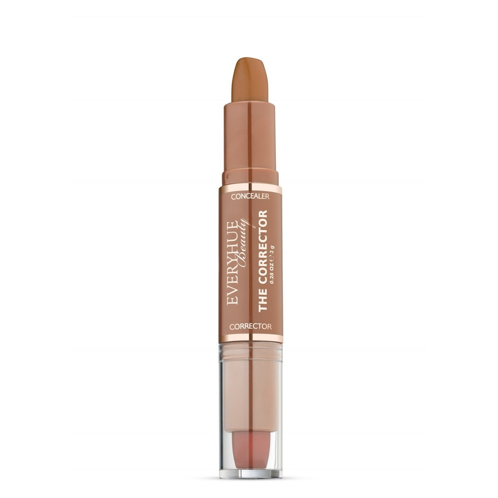 Image of EveryHue Concealer Corrector Duo Satin Deep Tan Almond - 0.28oz, Brown