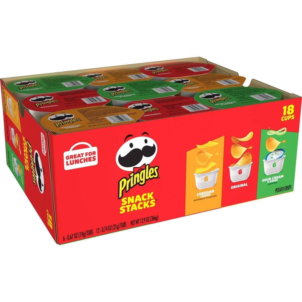 Pringles Snack Stacks Variety Pack Potato Crisps Chips 12 9oz 18ct