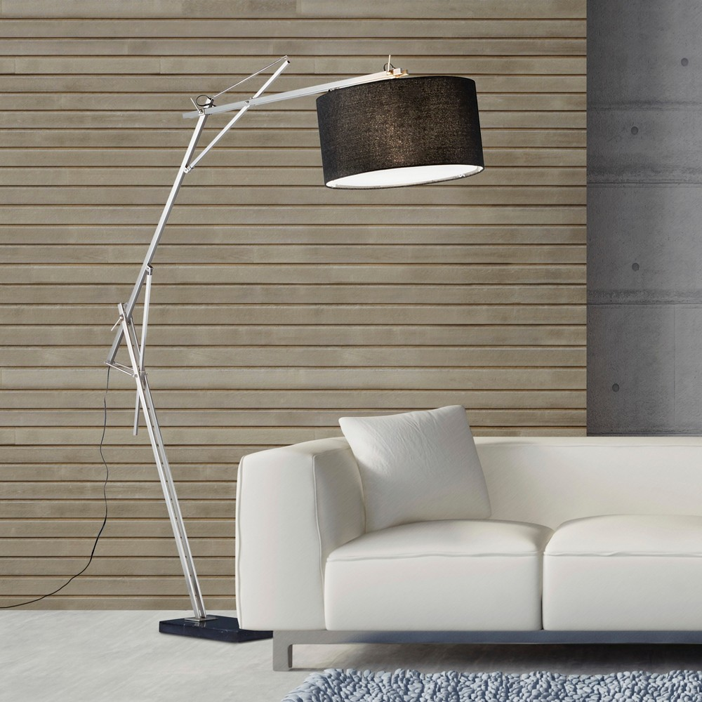 Adesso Suffolk Arc Lamp - Silver (Lamp Only)