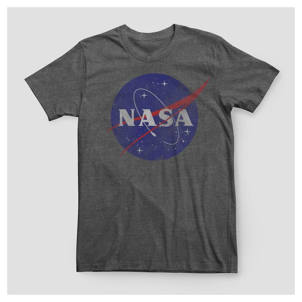 Men's Big & Tall Nasa Logo Graphic T-Shirt - Charcoal Heather 3XB Tall, Size: 3X Large Tall, Gray