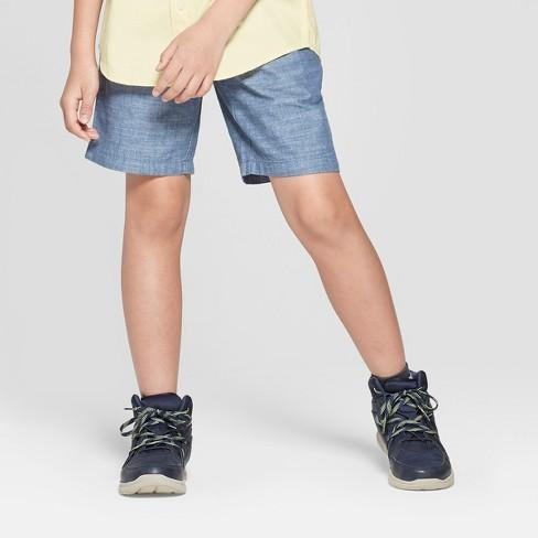 Boys' Chambray Chino Shorts - Cat & Jack™ Blue - image 1 of 3