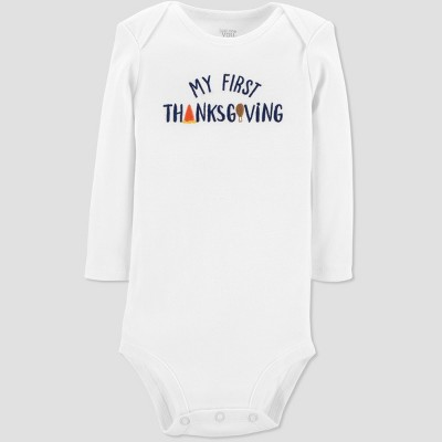 Babys' My First Thanksgiving Bodysuit - Just One You® made by carter's White 3M
