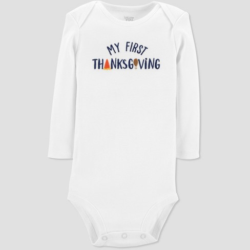 Babys My First Thanksgiving Bodysuit Just One You Made By