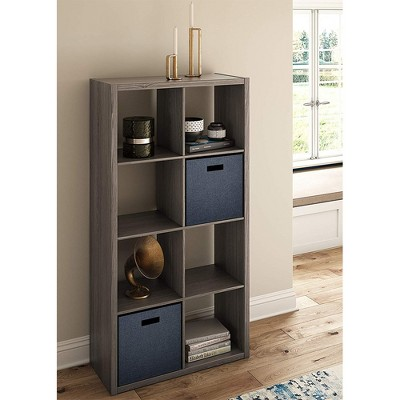 ClosetMaid 4585 Heavy Duty Decorative Bookcase Open Back 8-Cube Storage Organizer, Graphite Gray : Target