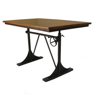 Lake Adjustable Dining Table Black - Carolina Chair & Table