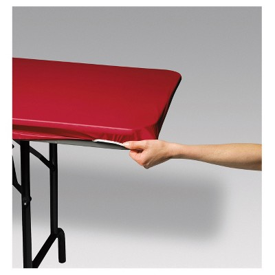 """Stay Put Tablecover Red, 29"""" x 72"""""""