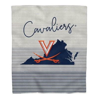 NCAA Virginia Cavaliers Ultra Fleece State Stripe Blanket
