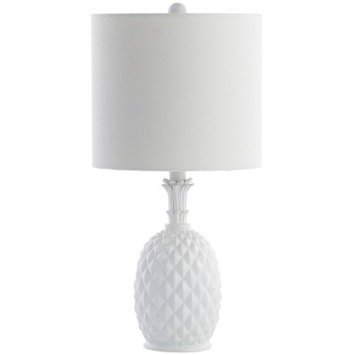 "21"" Alanis Table Lamp White (Includes Energy Efficient Light Bulb)- Safavieh"